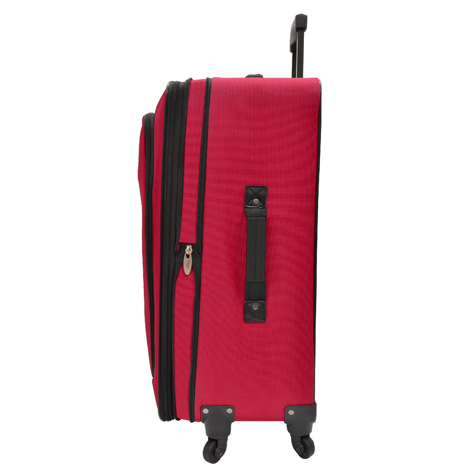 U.S. Traveler Charleville 4-Piece Spinner Luggage Set, Red