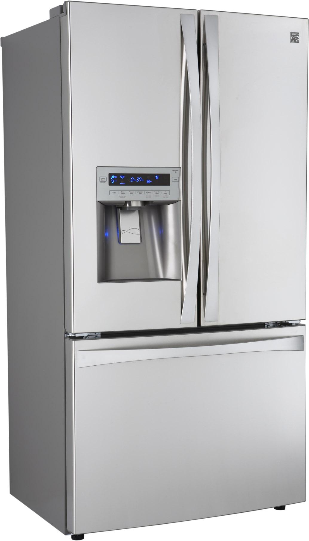 Kenmore Elite 25 cu. ft. French Door Counter-Depth Bottom-Freezer Refrigerator - Stainless Steel