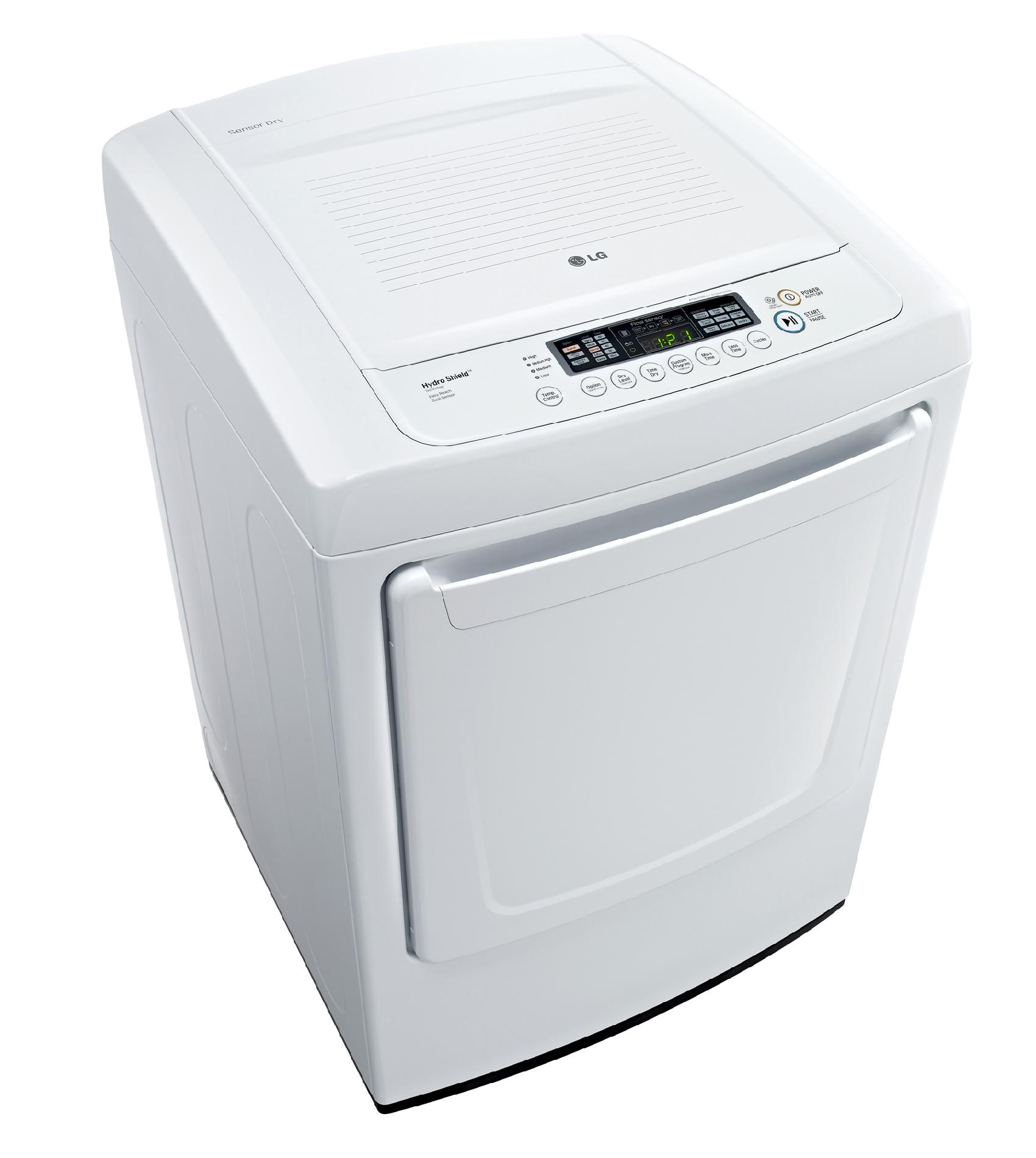 LG DLE1001W 7.3 cu. ft. Ultra-Large Capacity Front Control Electric Dryer w/ Sensor Dry - White