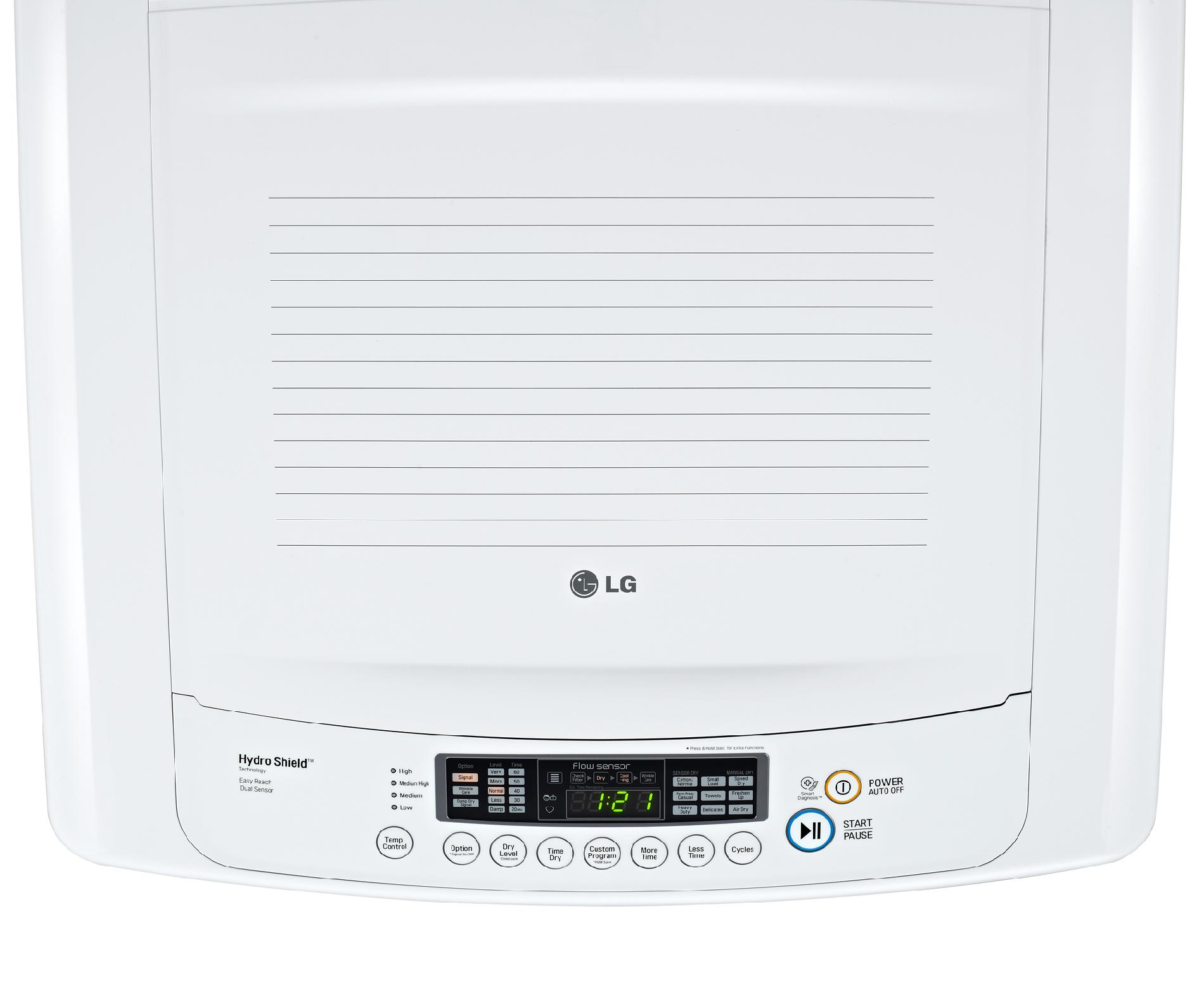 LG 7.3 cu. ft. Ultra-Large Capacity Front Control Electric Dryer w/ Sensor Dry - White