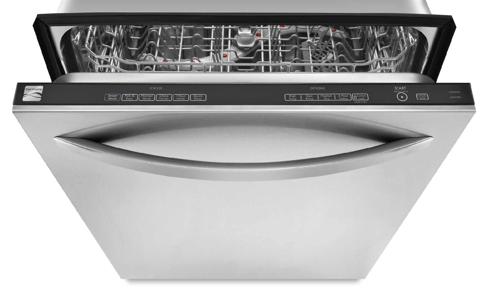 "Kenmore 24"" Built-In Dishwasher w/ Stainless-Steel Tub - Stainless Steel"