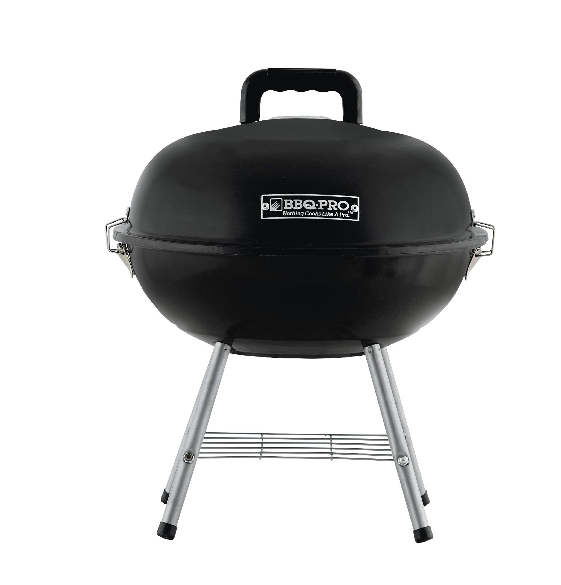 BBQ Pro 14in Tabletop Charcoal Grill - Black