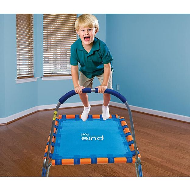 Pure Fun Kids Jumper Mini Trampoline w/ Handrail  9001KJ