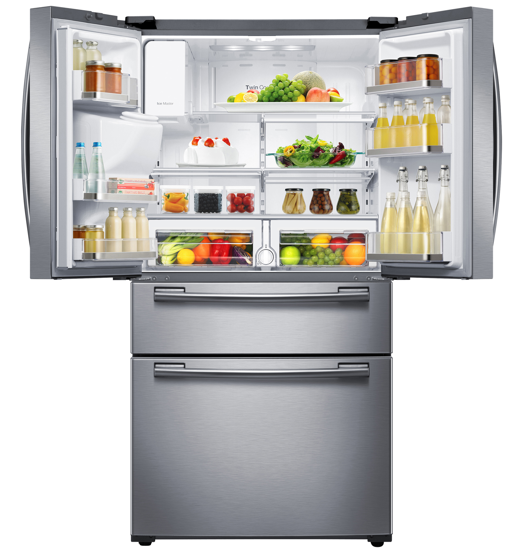 Samsung RF25HMEDBSR/AA 25 cu. ft. 4-Door French Door Refrigerator - Stainless Steel