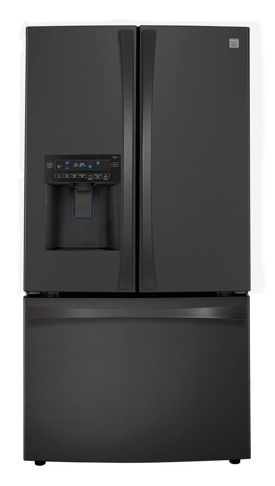Kenmore Elite 31 cu. ft. Grab-N-Go French Door  Bottom-Freezer Refrigerator - Black
