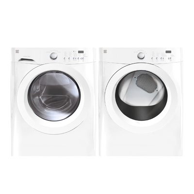 Kenmore 3.7 cu. ft. Front-Load Washer & 7.0 cu. ft. Gas Dryer - White Bundle