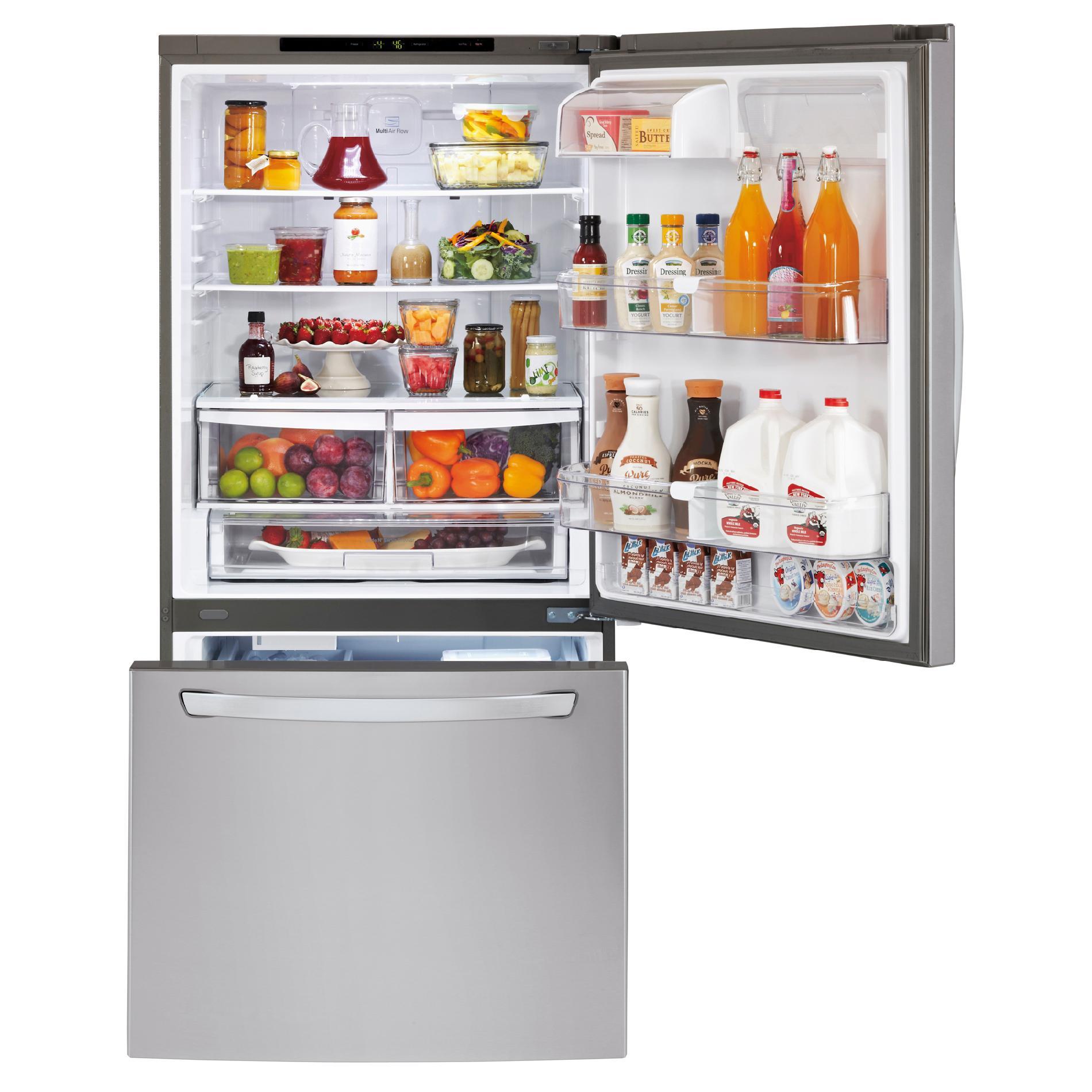 LG LDC24370ST 24 Cu. Ft. Stainless Bottom-Freezer Refrigerator