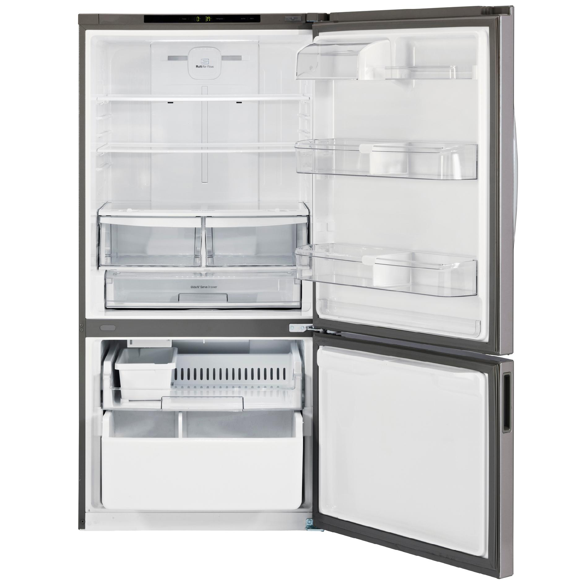 LG 24 cu.ft. Bottom-Freezer Refrigerator w/ Swing Door – Stainless
