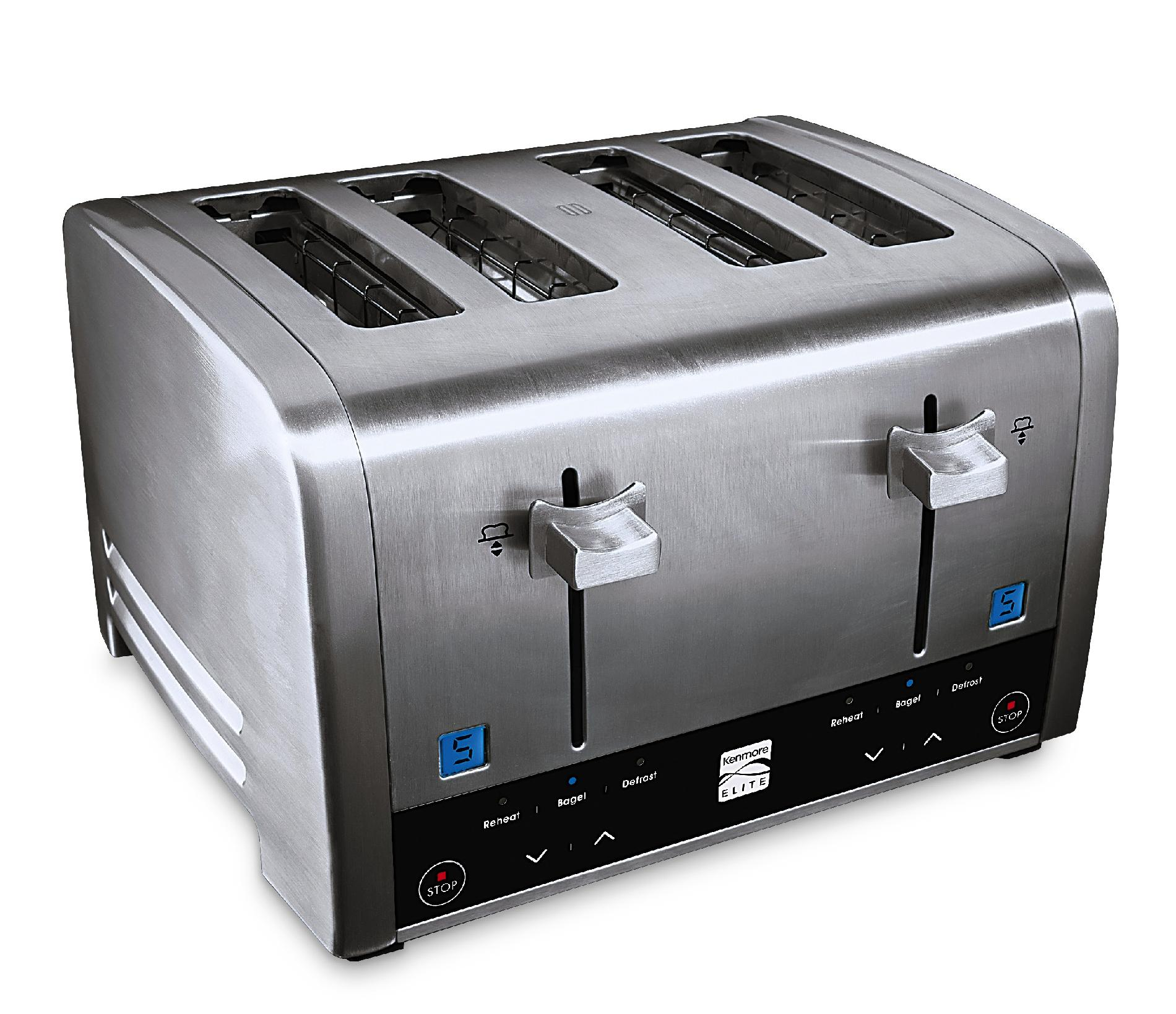 Kenmore Elite 4 Slice Brushed Metal Toaster