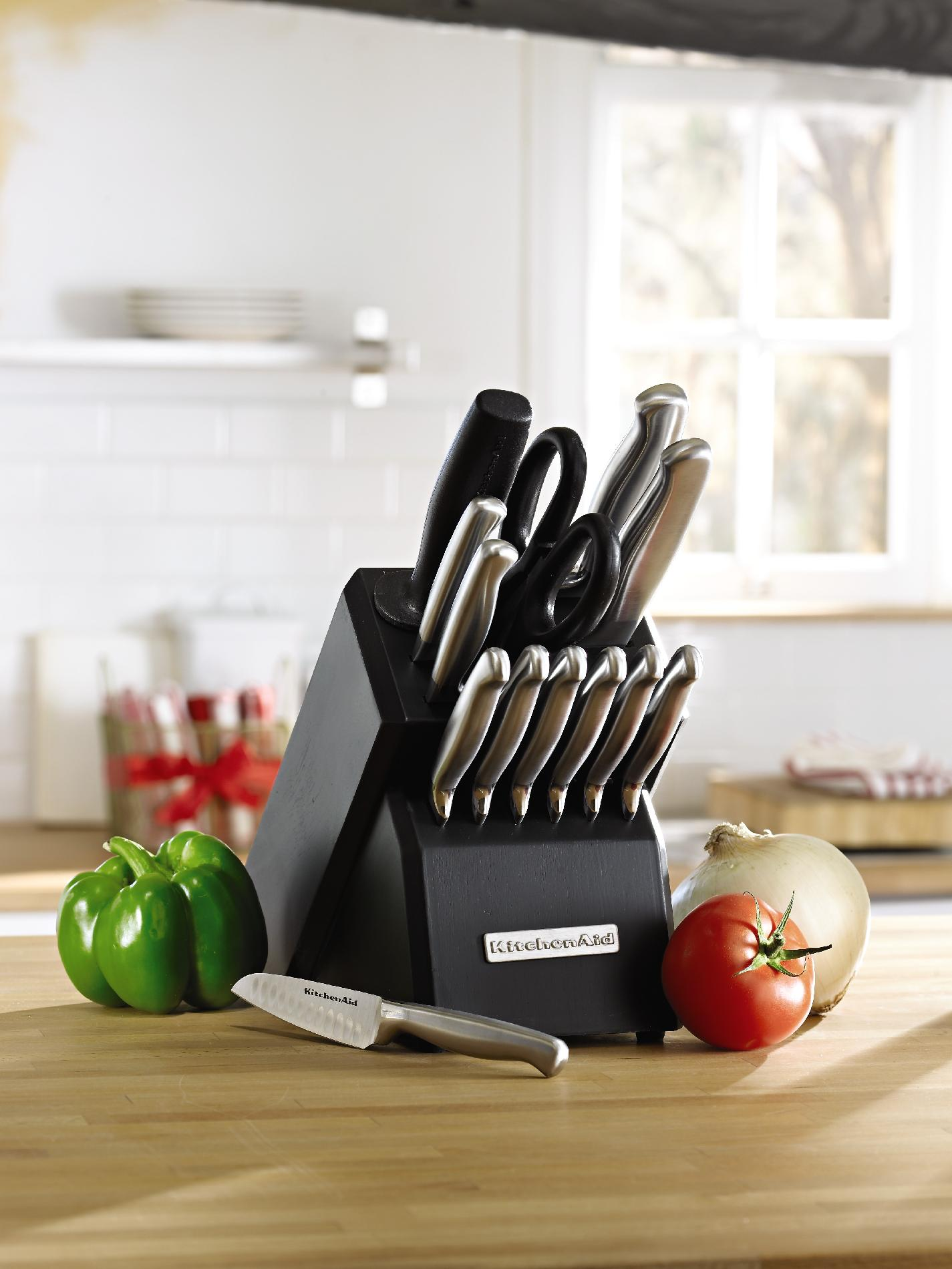 KitchenAid 14-Piece Stainless Steel Block Knife Set