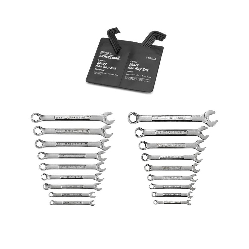 30 pc Wrench Set and Hex Key Set