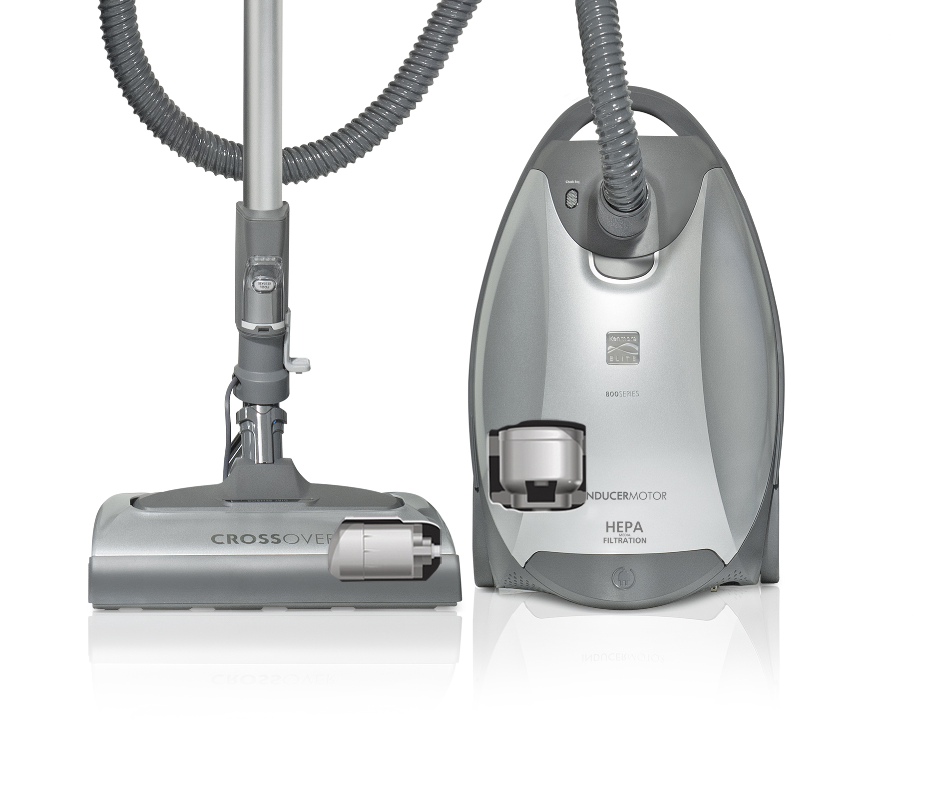 Kenmore Elite 21814 Canister Vacuum Cleaner - Silver/Gray