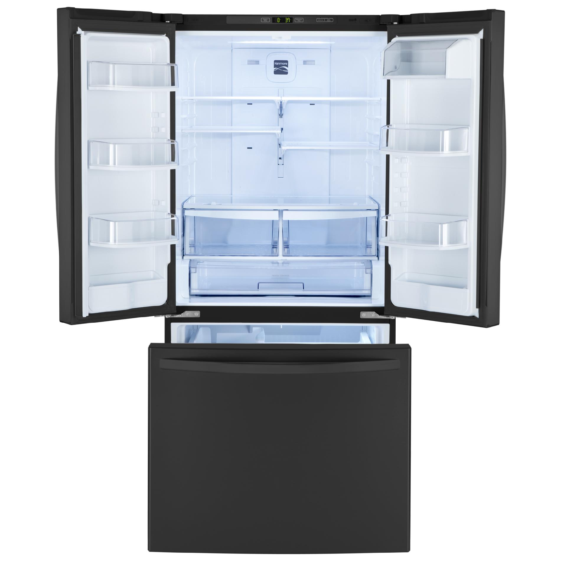 Kenmore 23.6 cu. ft.  French Door Bottom-Freezer Refrigerator - Black