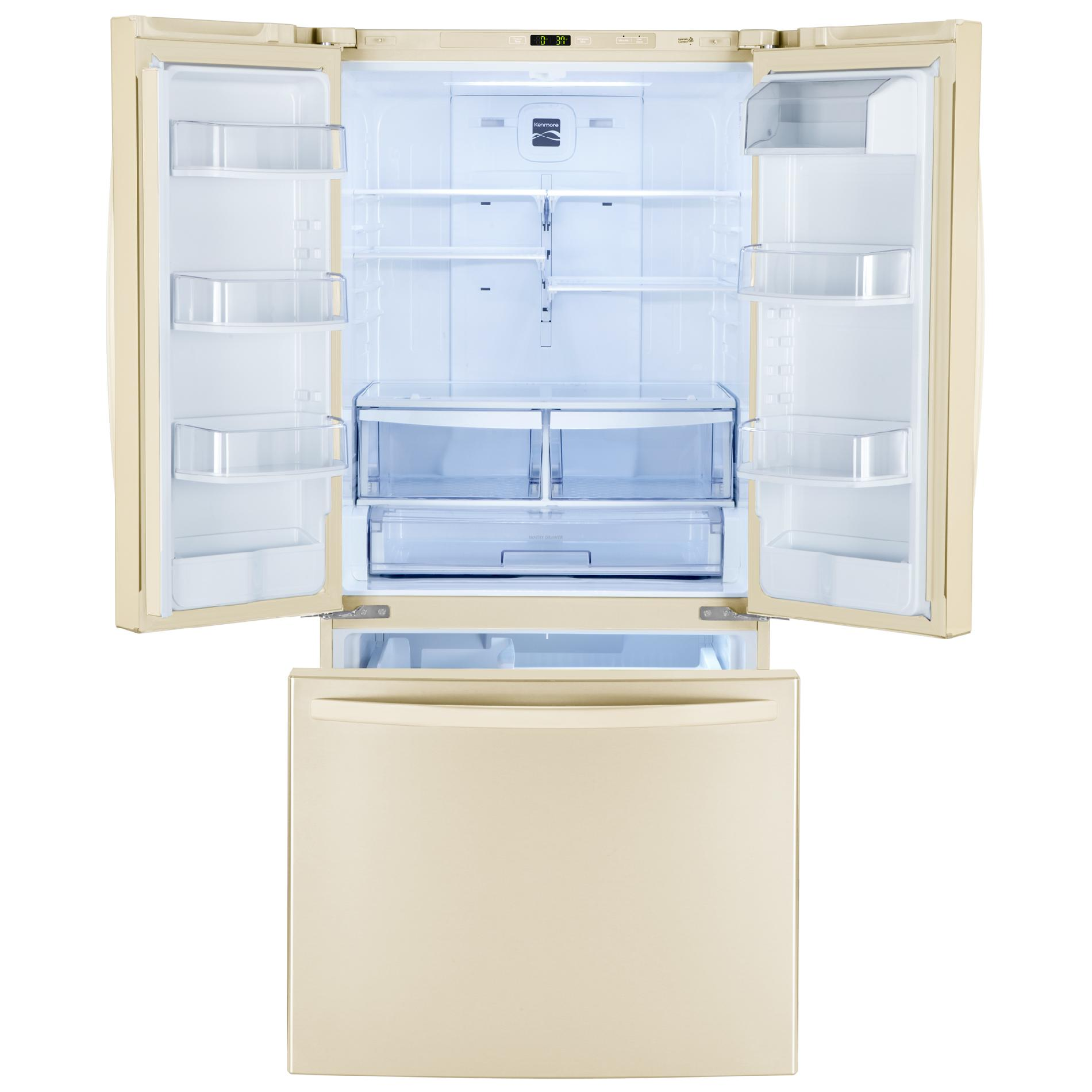 Kenmore 23.6 cu. ft.  French Door Bottom-Freezer Refrigerator - Bisque