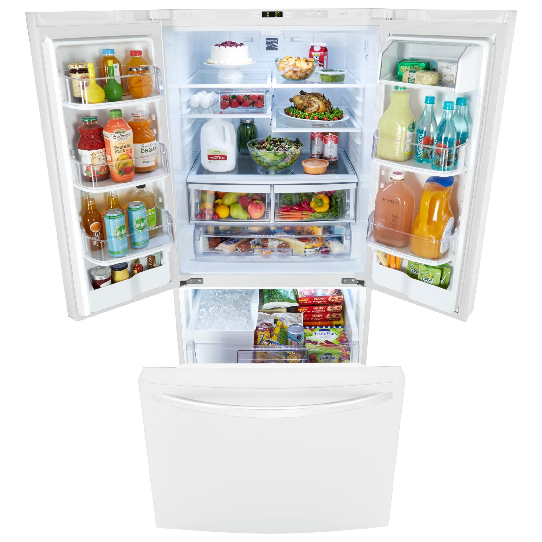 "Kenmore 71312 23.9 cu. ft. 33"" French Door Bottom-Freezer Refrigerator - White"