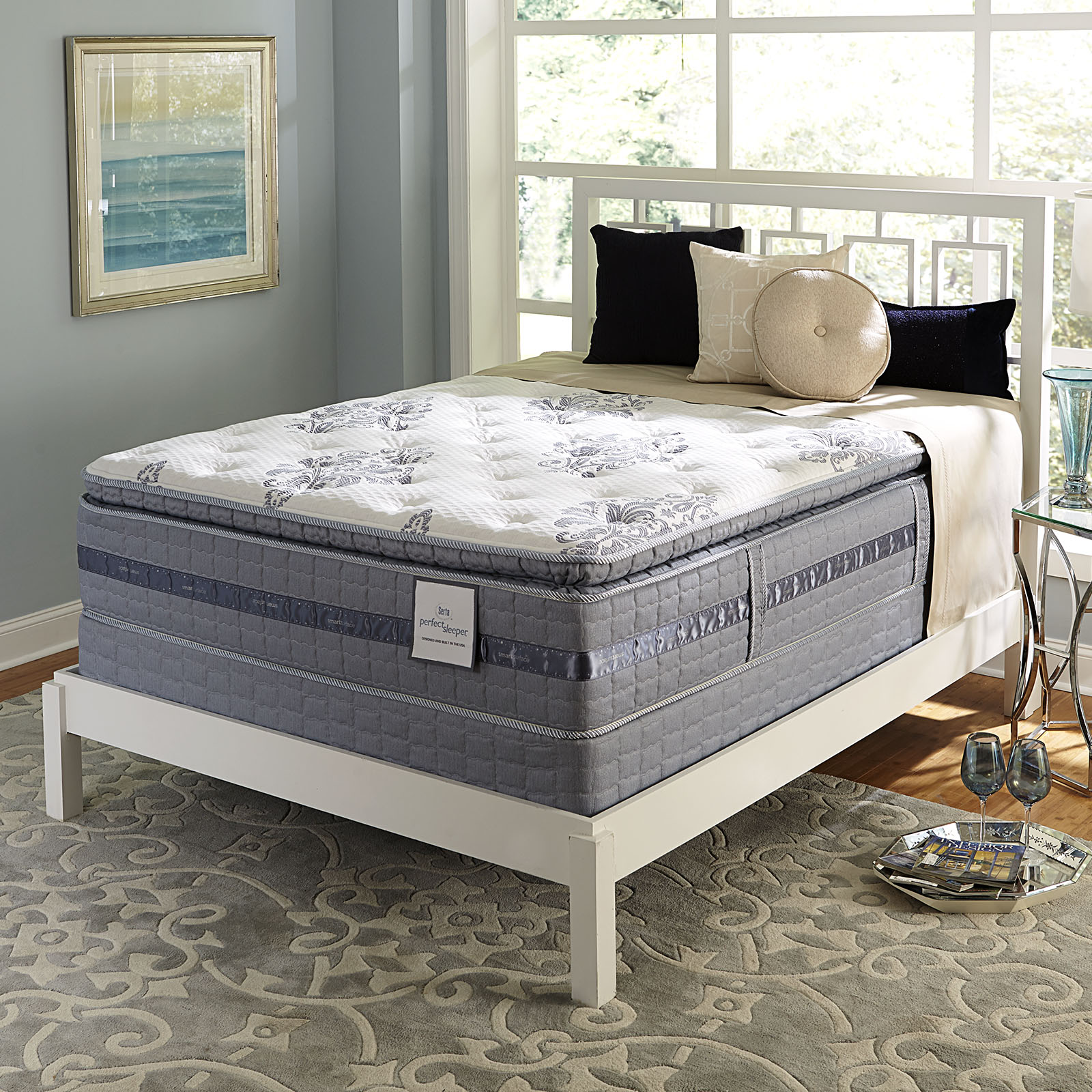 Serta Perfect Sleeper Perfect Sleeper Castlemoor Super PillowTop Plush Queen  Mattress Only