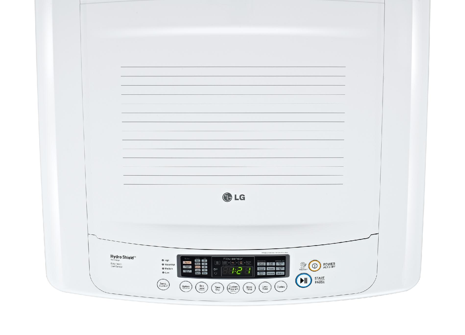 LG DLG1002W 7.3 cu. ft. Ultra-Large Capacity Front Control Gas Dryer w/ Sensor Dry - White