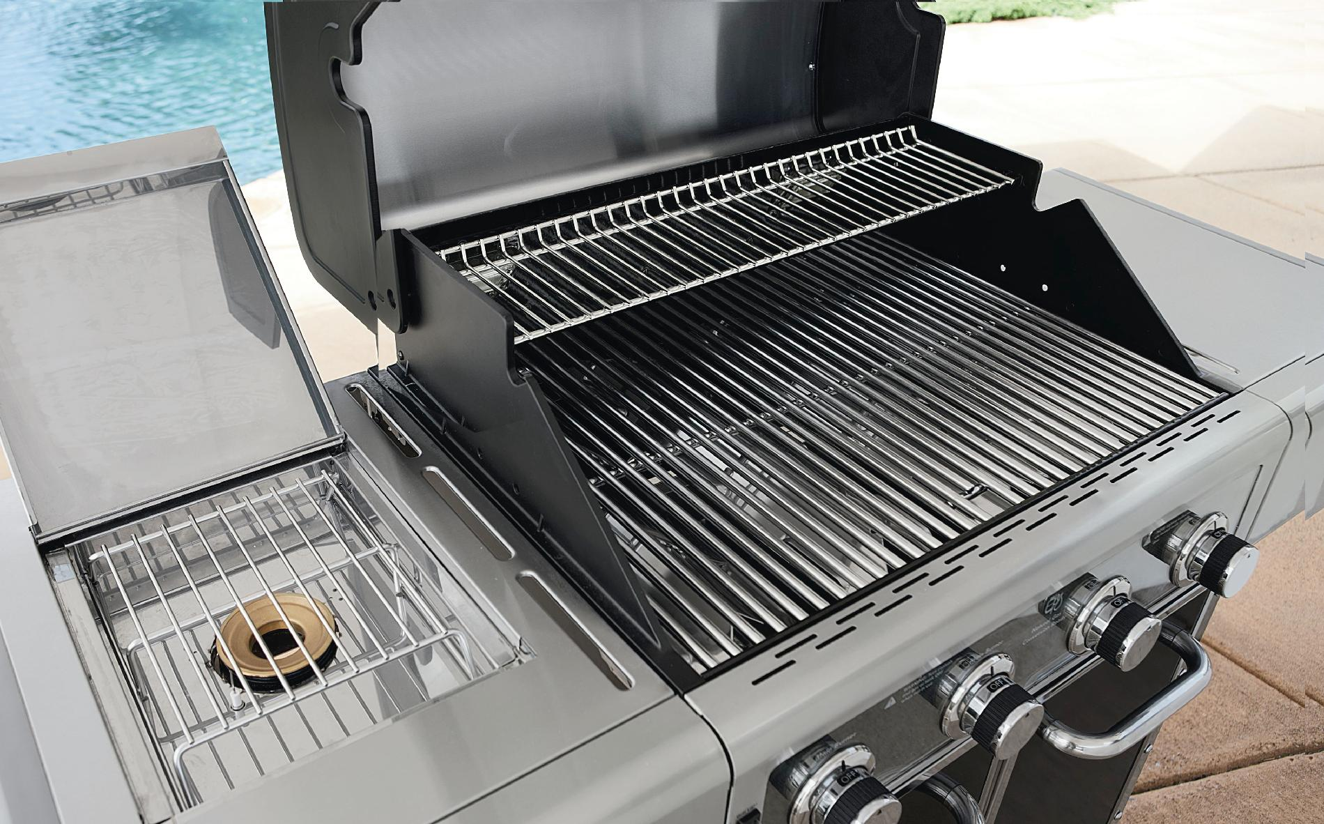 Kenmore Elite 600 Series 4 Burner Dual Fuel Carbon Grey Metallic Gas Grill