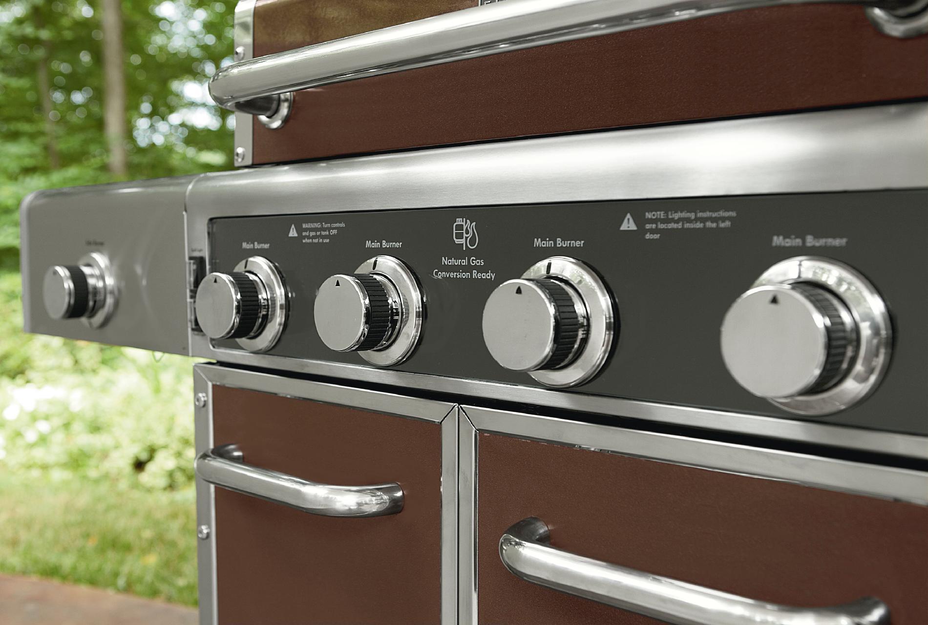 Kenmore Elite 600 Series 4 Burner Dual Fuel Maroon Metallic Gas Grill