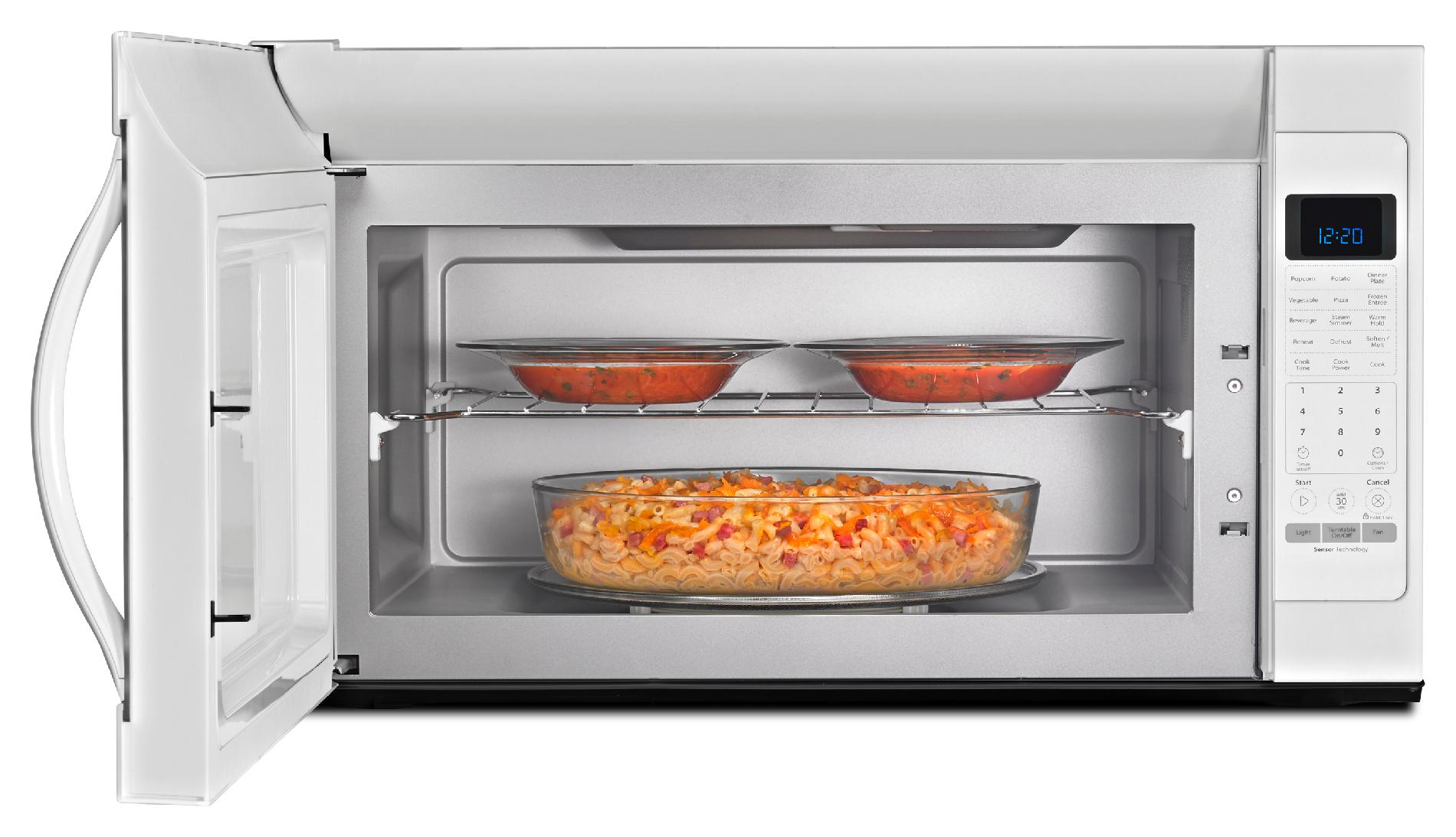 Whirlpool 2.0 cu. ft. Over-the-Range Microwave w/ CleanRelease® Non-Stick Interior - White