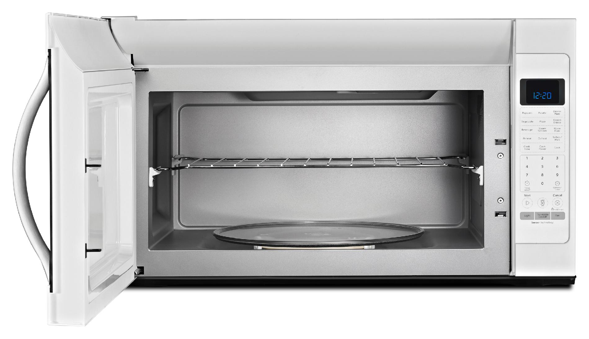 Whirlpool WMH53520CH 2.0 cu. ft. Over-the-Range Microwave w/ CleanRelease® Non-Stick Interior - White w/Silver Handle