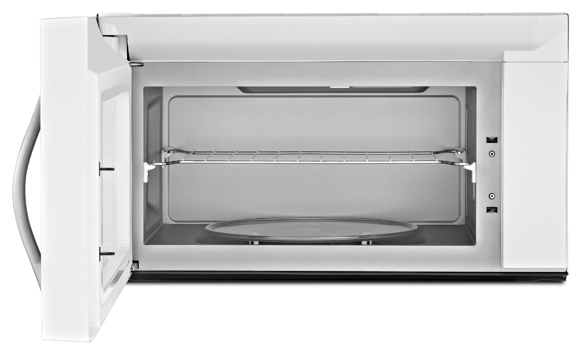 Whirlpool 2.1 cu. ft. Over-the-Range Microwave w/ AccuPop™ Cycle and SteamClean - White w/Silver Handle