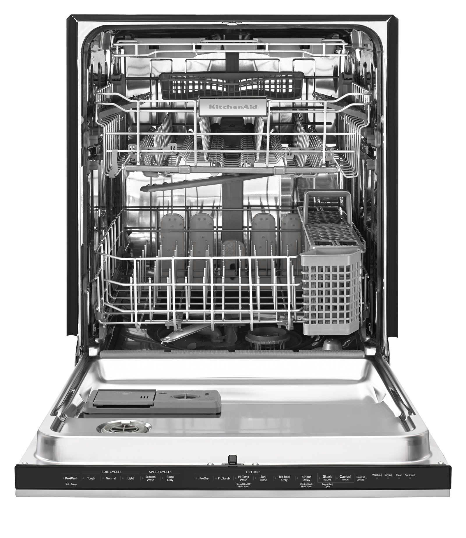 KitchenAid 24-in. Built-in Dishwasher w/ Ultra Handle and Third Rack - Stainless Steel