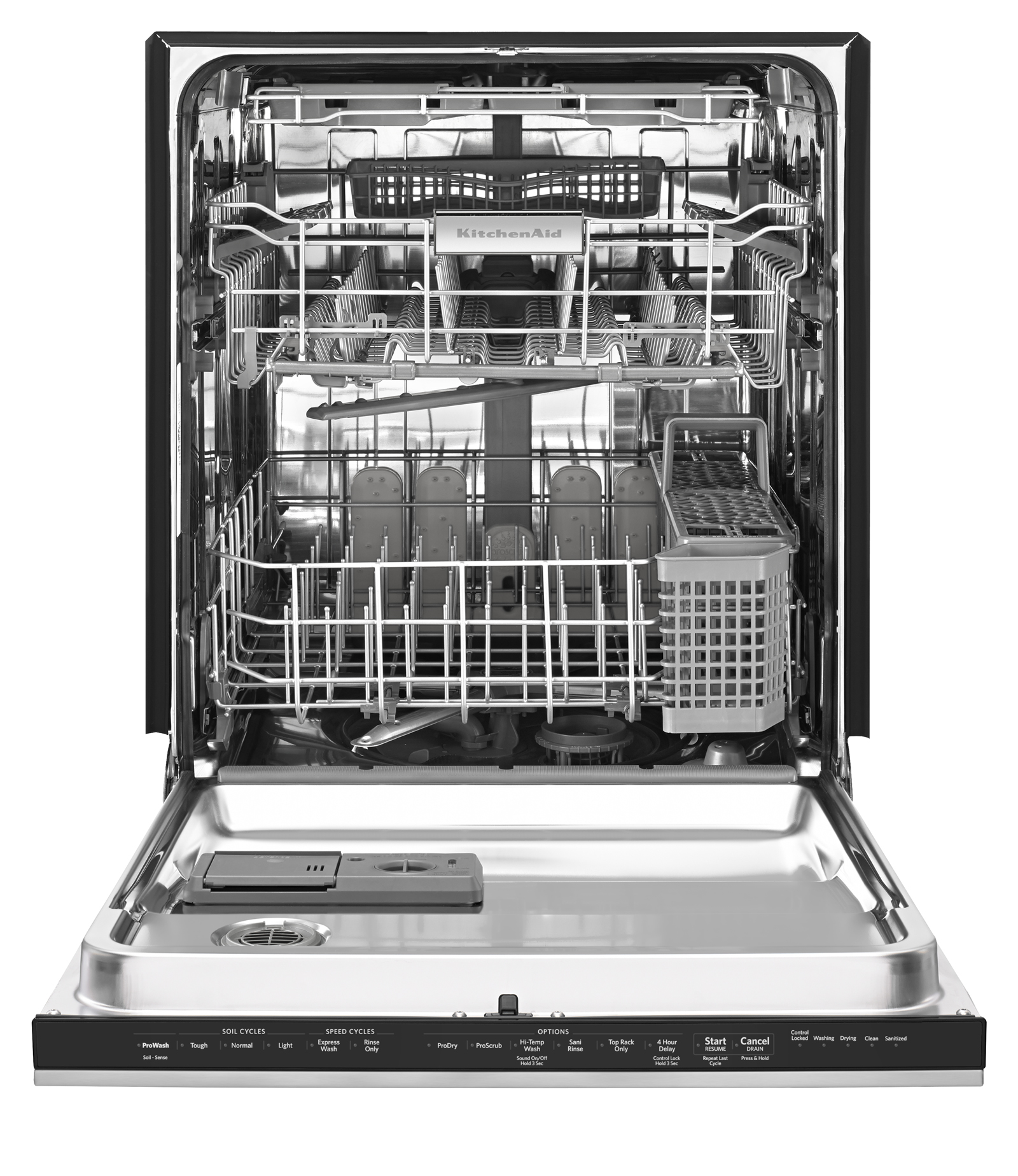 KitchenAid 24-in. Built-in Dishwasher w/ ProScrub® Trio and Third Rack - Custom Panel