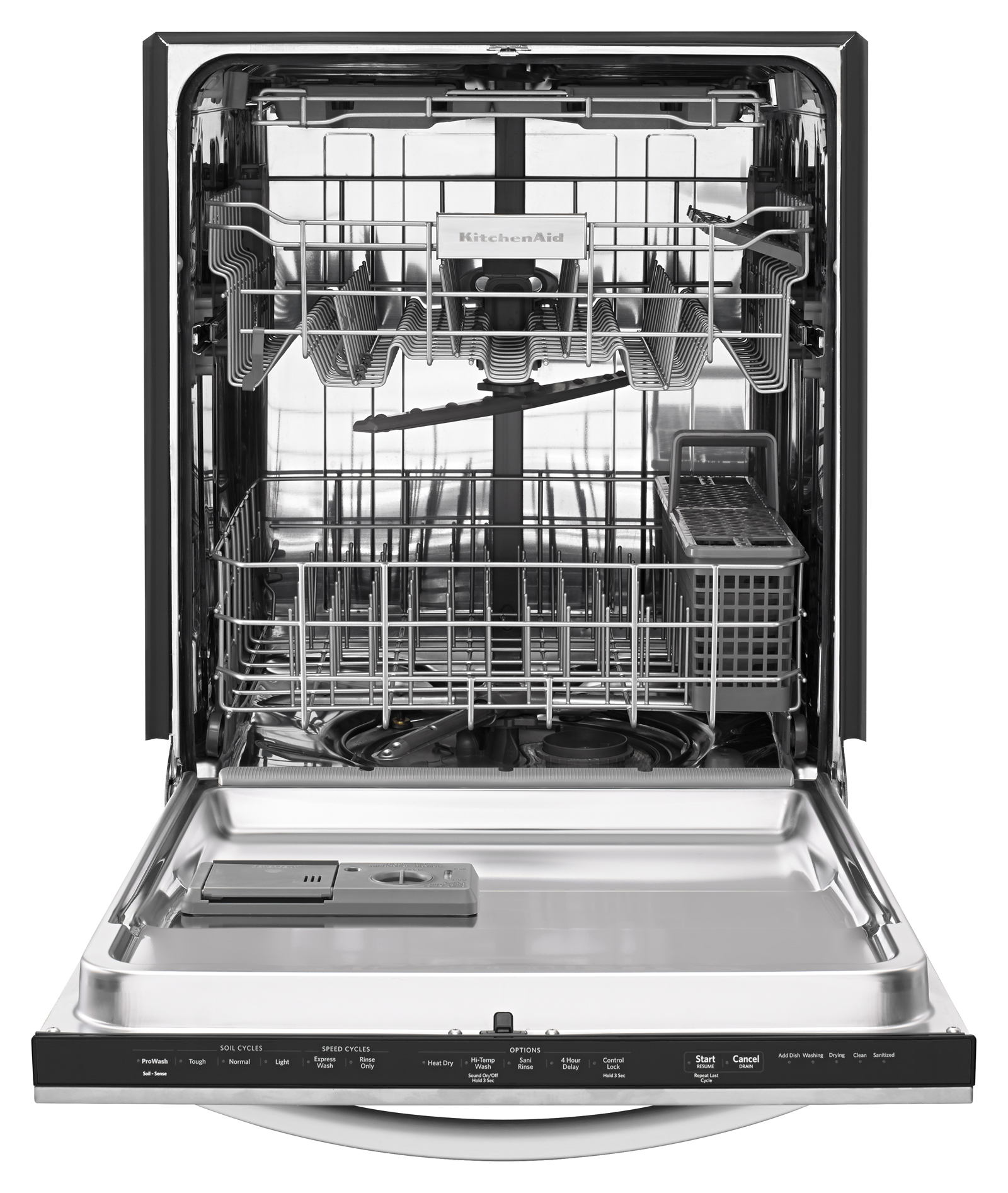 KitchenAid 24-in. Built-in Dishwasher w/ Third Rack - Stainless Steel