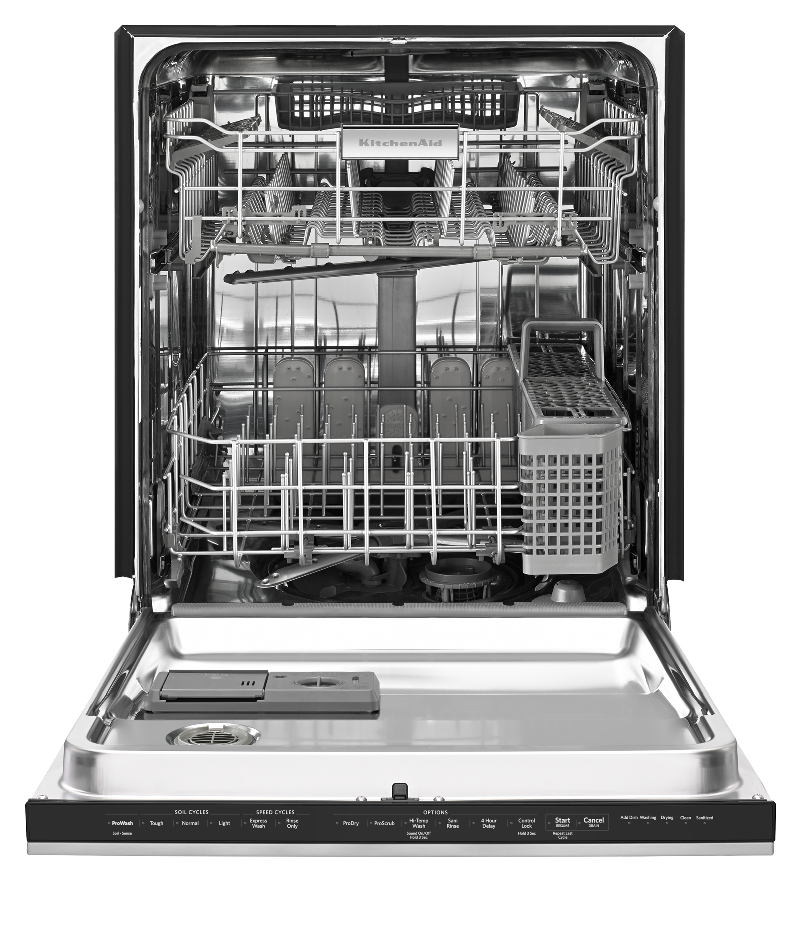 KitchenAid 24-in. Built-in Dishwasher w/ Ultra Handle and Concealed Controls - Stainless Steel
