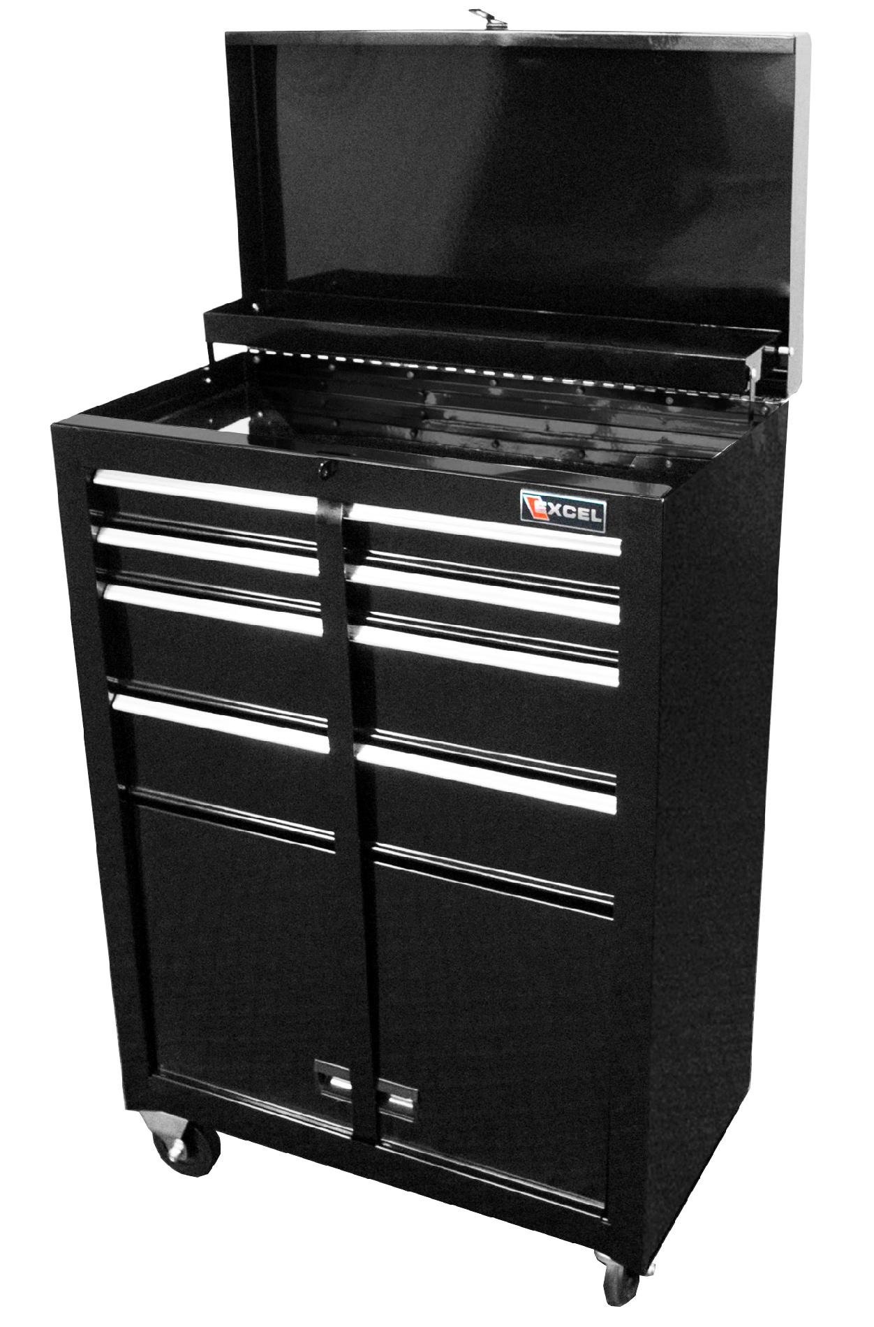 Excel 22 in. Steel Roller Cabinet with Storage Compartment
