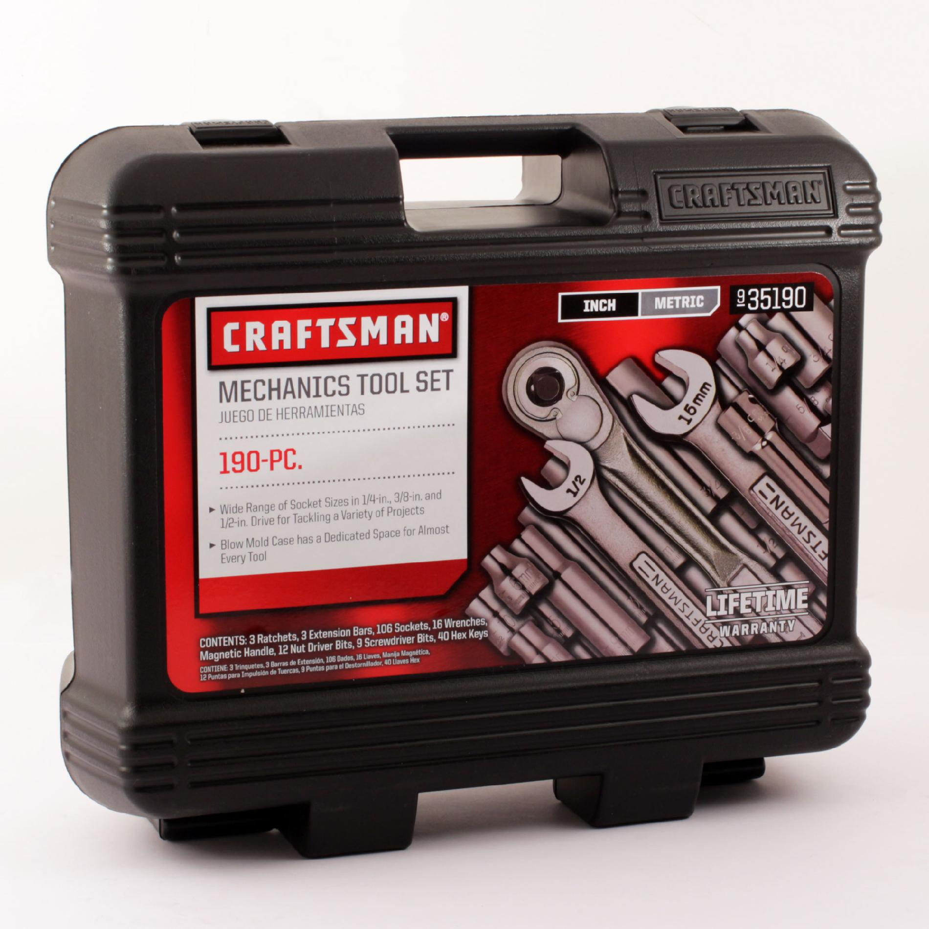 Craftsman Professional Use 190PC Professional Use Mechanics Tool Set