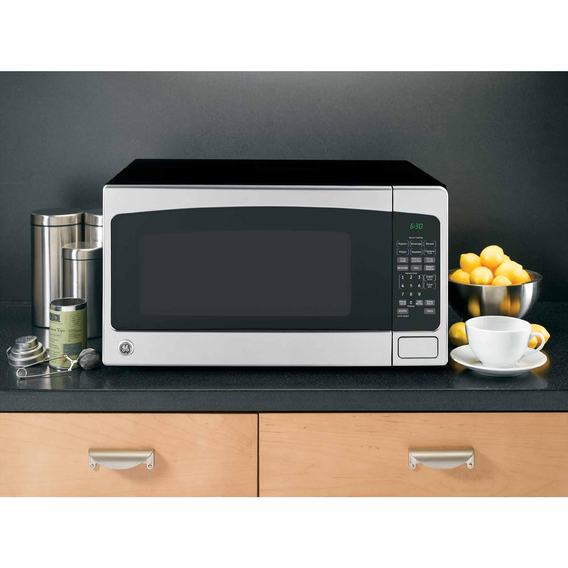 GE 2.0 cu. ft. Countertop Microwave Oven - Stainless Steel