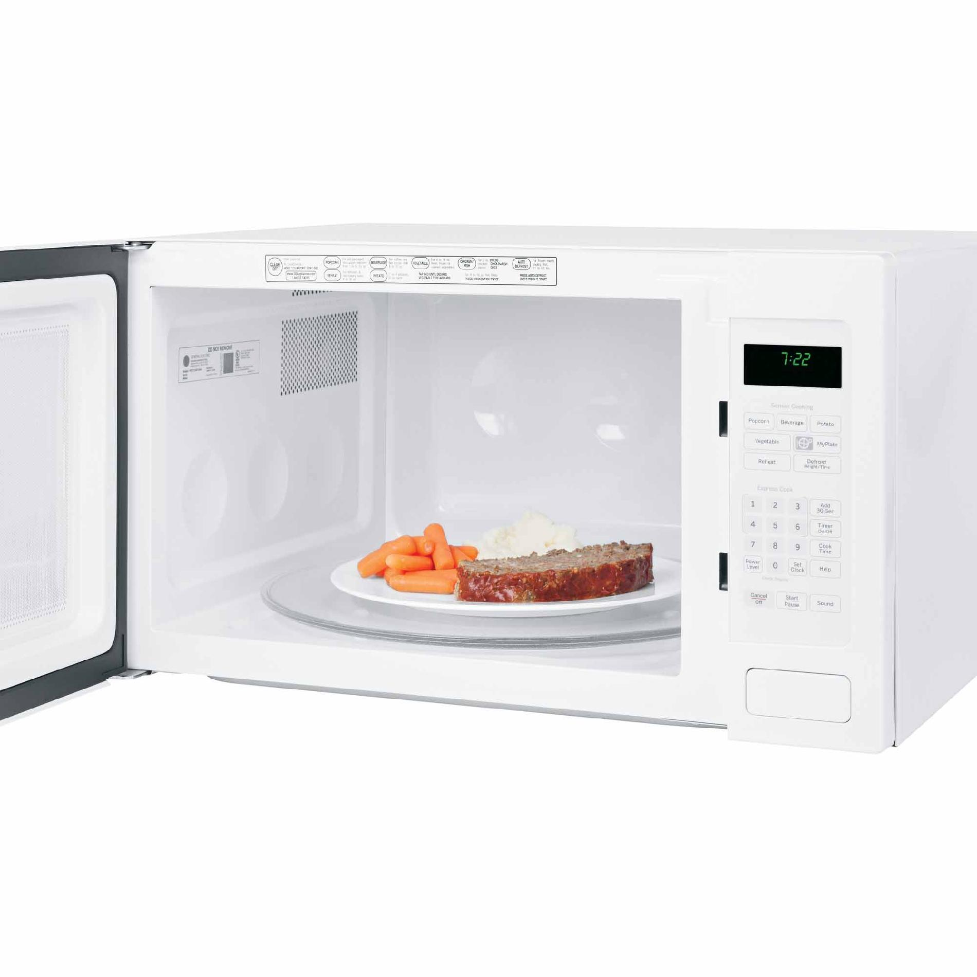 GE Appliances PEB7226DFWW 2.2 cu. ft. Countertop Microwave Oven - White PEB7226DFWW