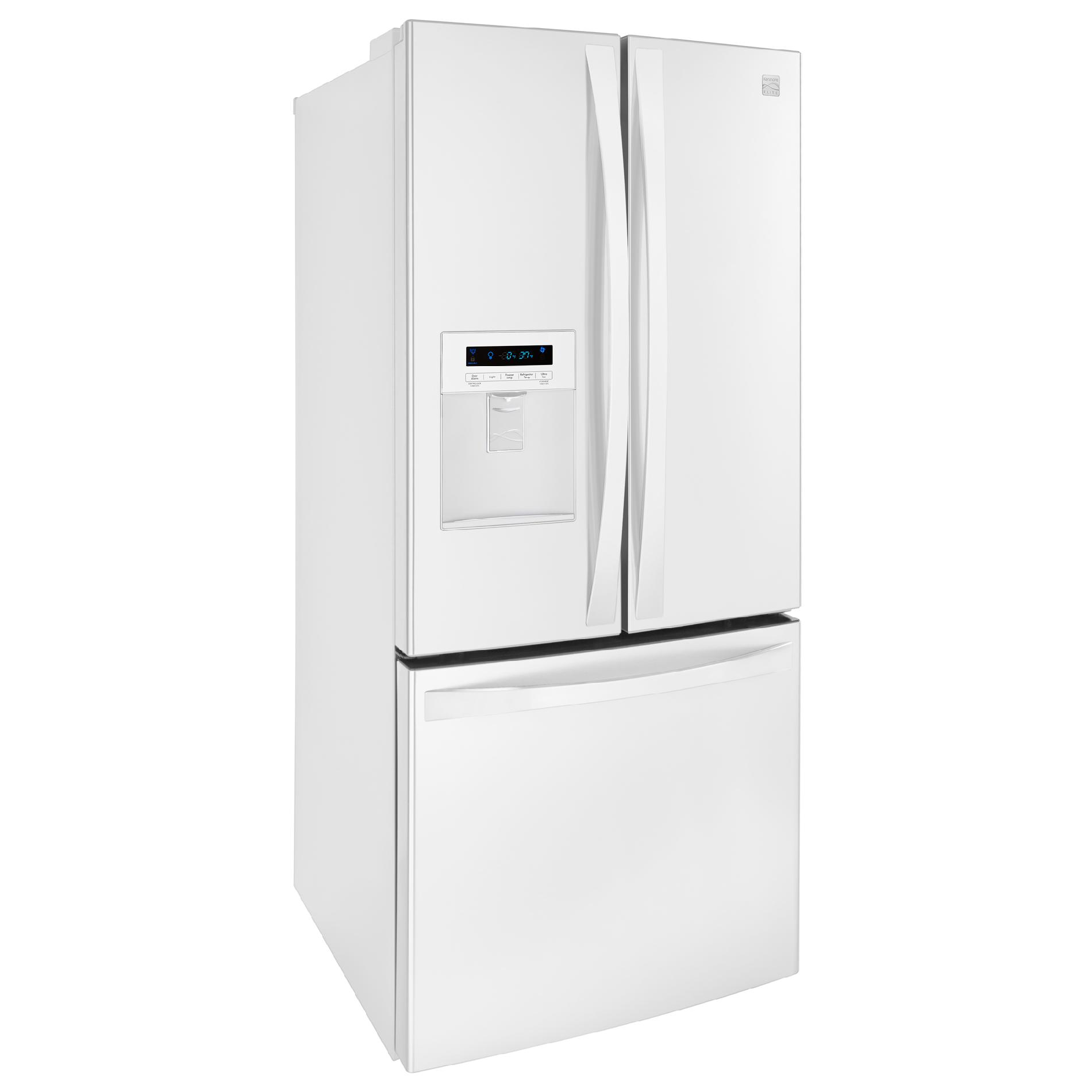 Kenmore Elite 71322 21.8cu. ft. French Door Bottom-freezer Refrigerator w/ Water Dispenser - White