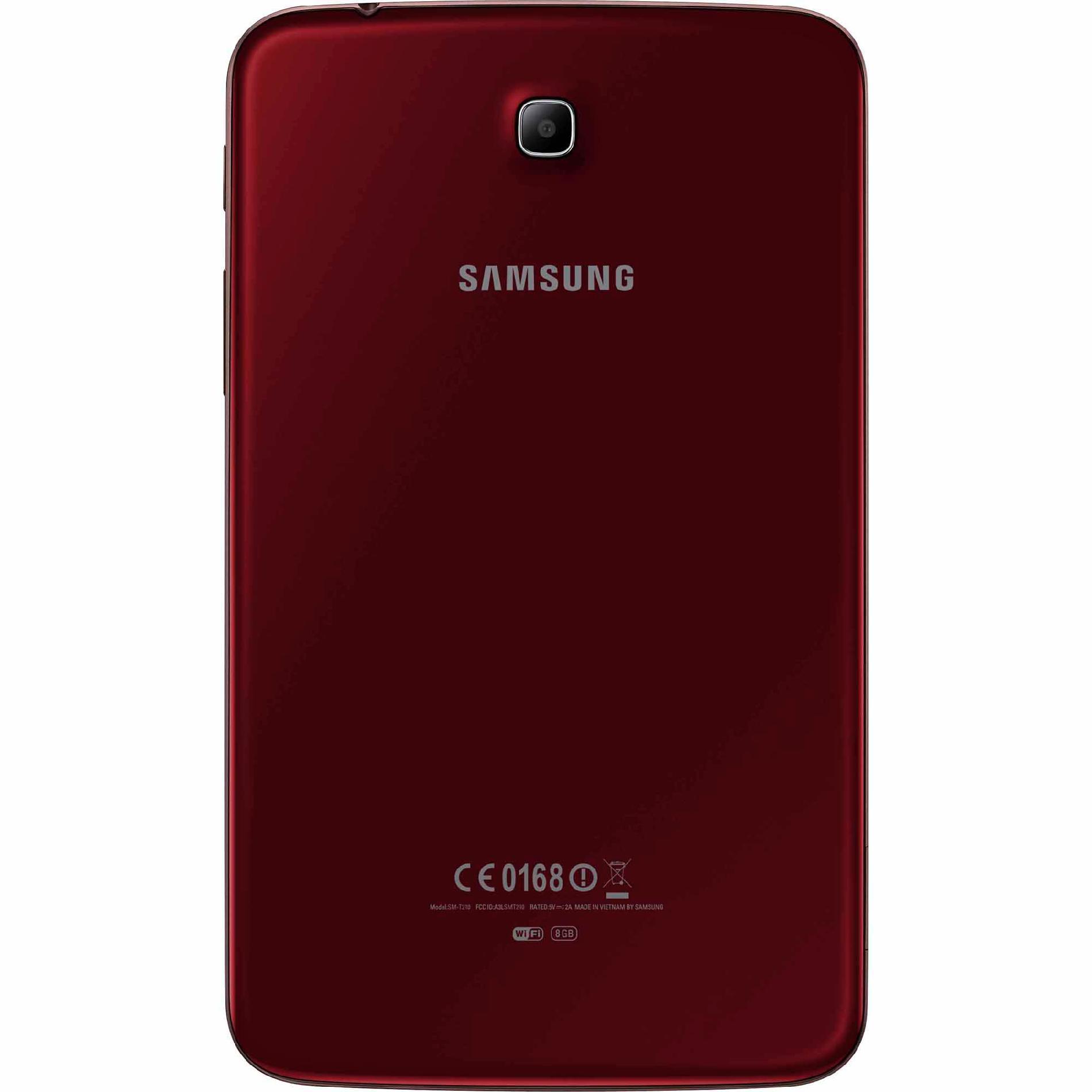 Samsung 7 in. Galaxy Tab® 3 - 8GB, SM-T210RGRSXAR (Book Cover Bundle) Garnet Red