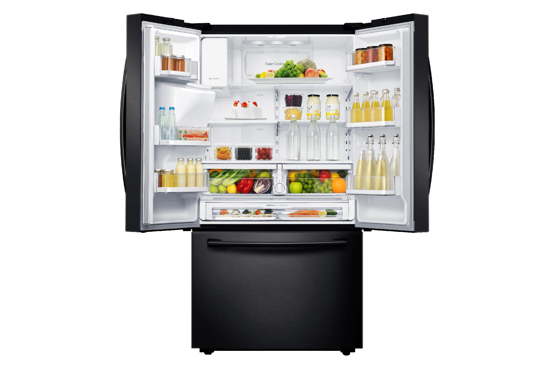 Samsung 22.5 cu. ft. Counter-Depth French Door Refrigerator - Black