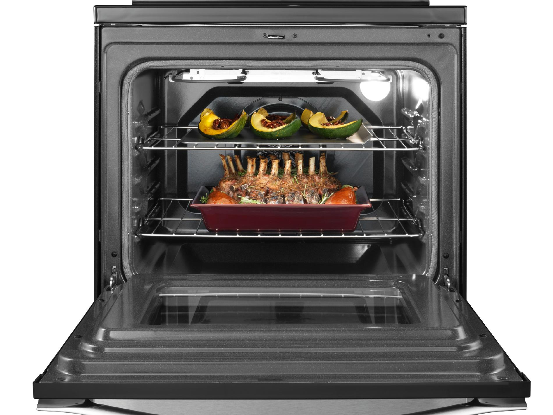Whirlpool 5.3 cu. ft. Electric Range w/ TimeSavor™ Convection Cooking - Stainless Steel