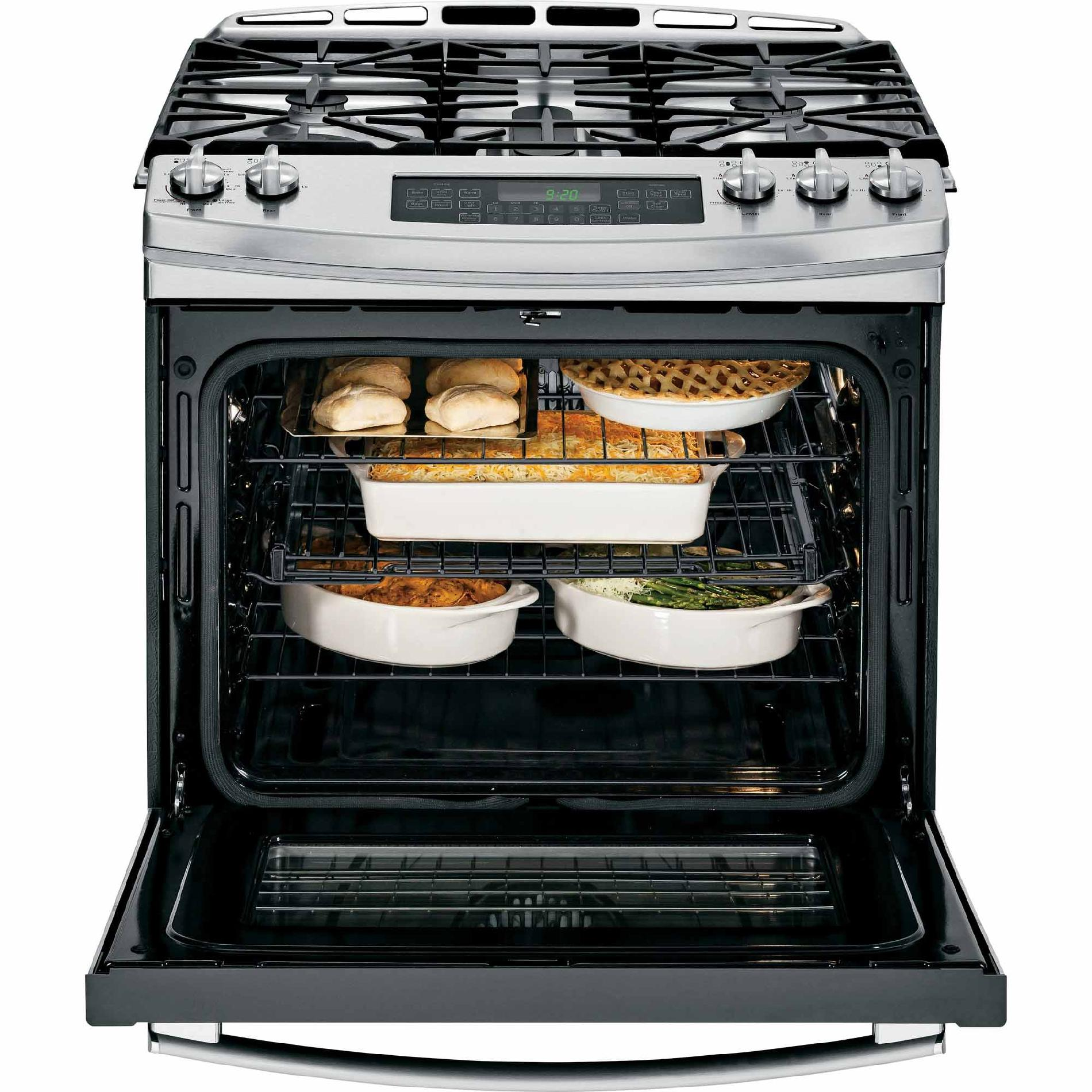 GE Profile PGS920SEFSS 5.6 cu. ft. Slide-In Gas Range w/ Convection - Stainless Steel