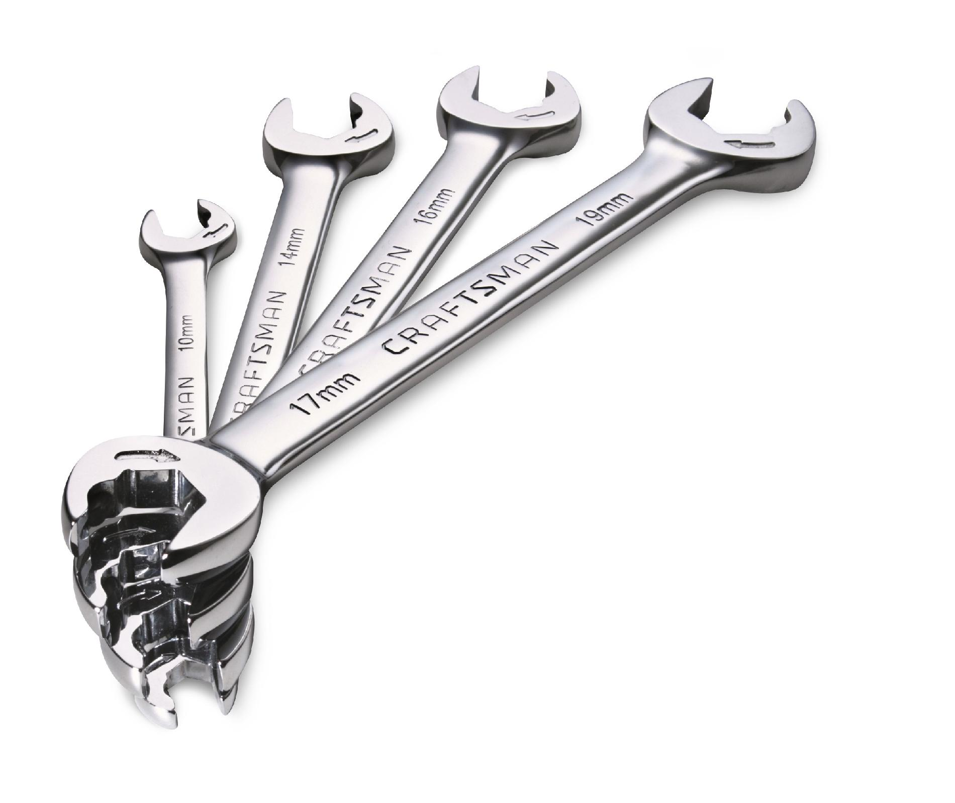 Craftsman 4 pc. Standard SAE Open End Ratcheting Wrench Set