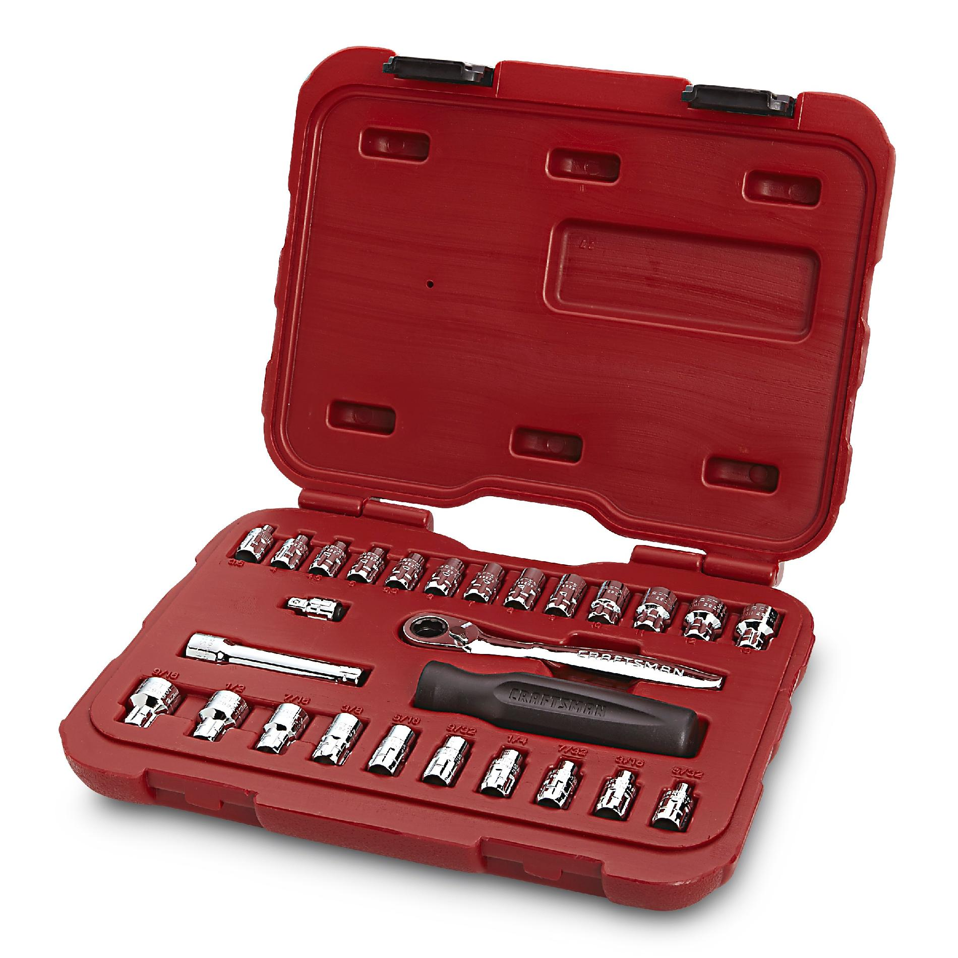 Craftsman 27pc Max Axess 1/4-in. Dr. Socket Wrench Set