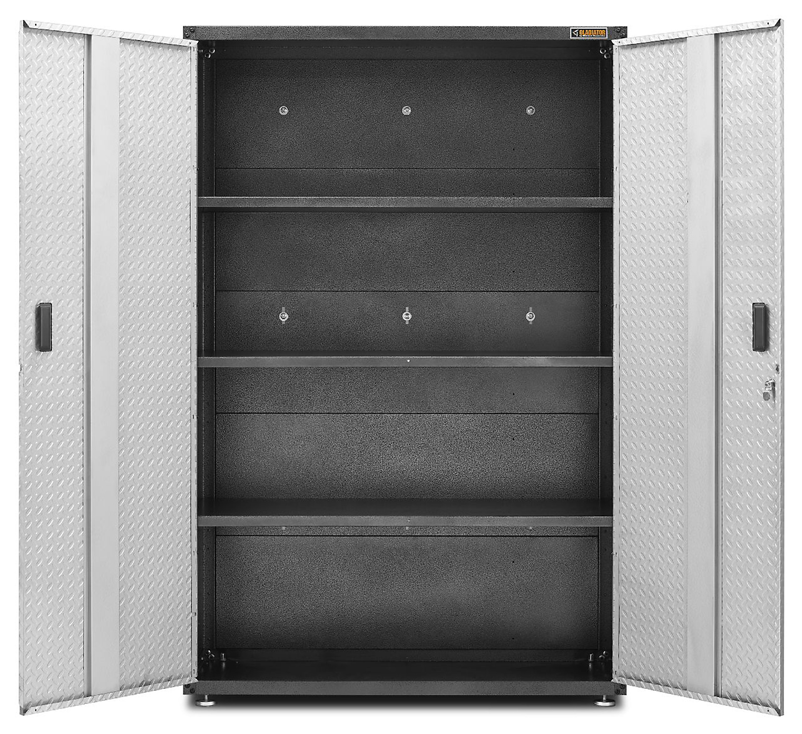 Gladiator Ready to Assemble 72 in. H x 48 in. W x 18 in. D Steel Freestanding Garage Cabinet in Silver Tread