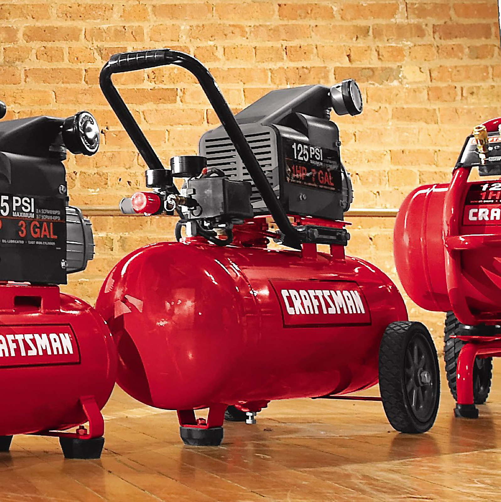 Craftsman 7 Gallon Portable Horizontal Air Compressor with Hose and Accessory Kit
