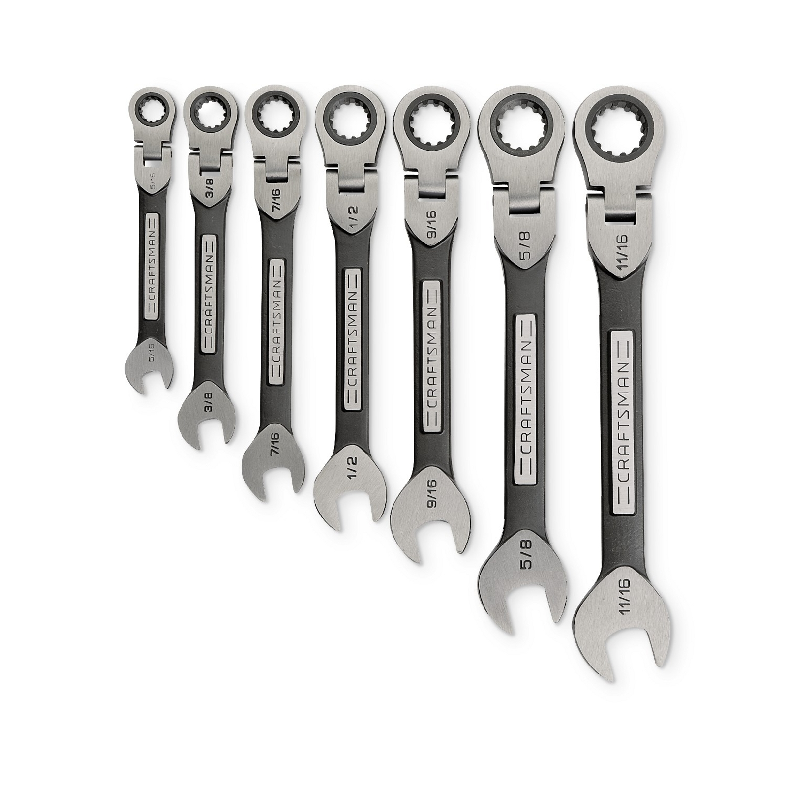 Craftsman 7PC Universal Flex Ratcheting Wrench Set, SAE
