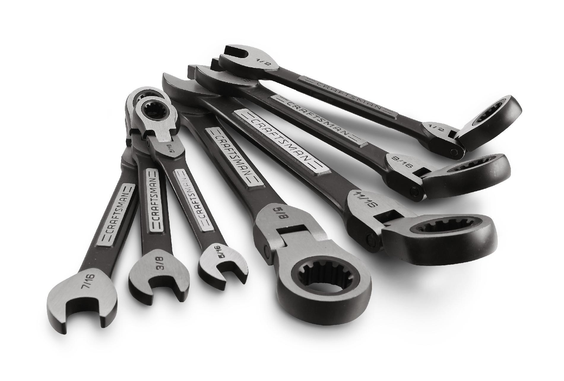 Craftsman 7PC Universal Flex Ratcheting Wrench Set, SAE