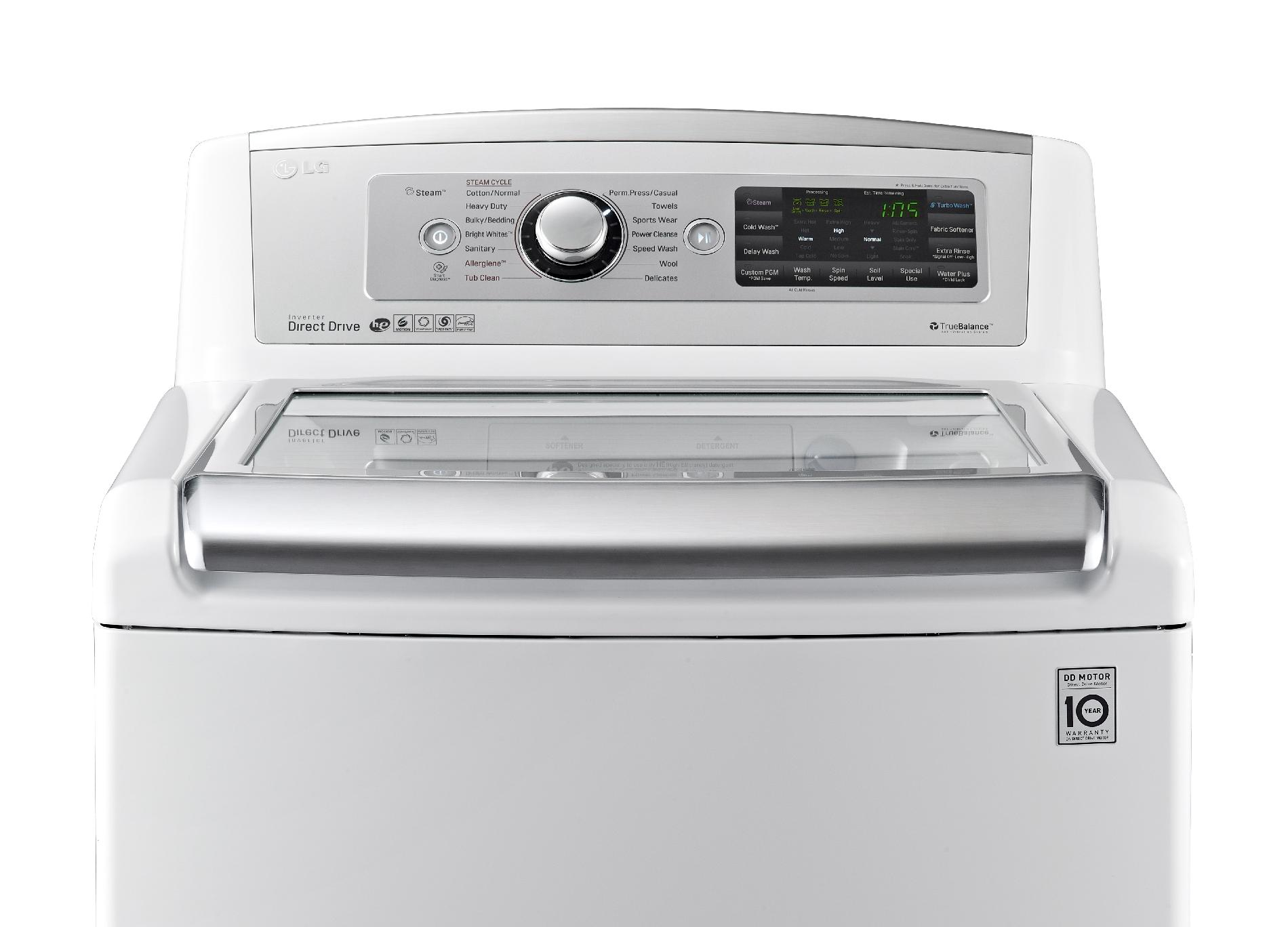 LG WT5680HWA 5.0 cu. ft. High Efficiency Top-Load Washer w/ TurboWash™ - White