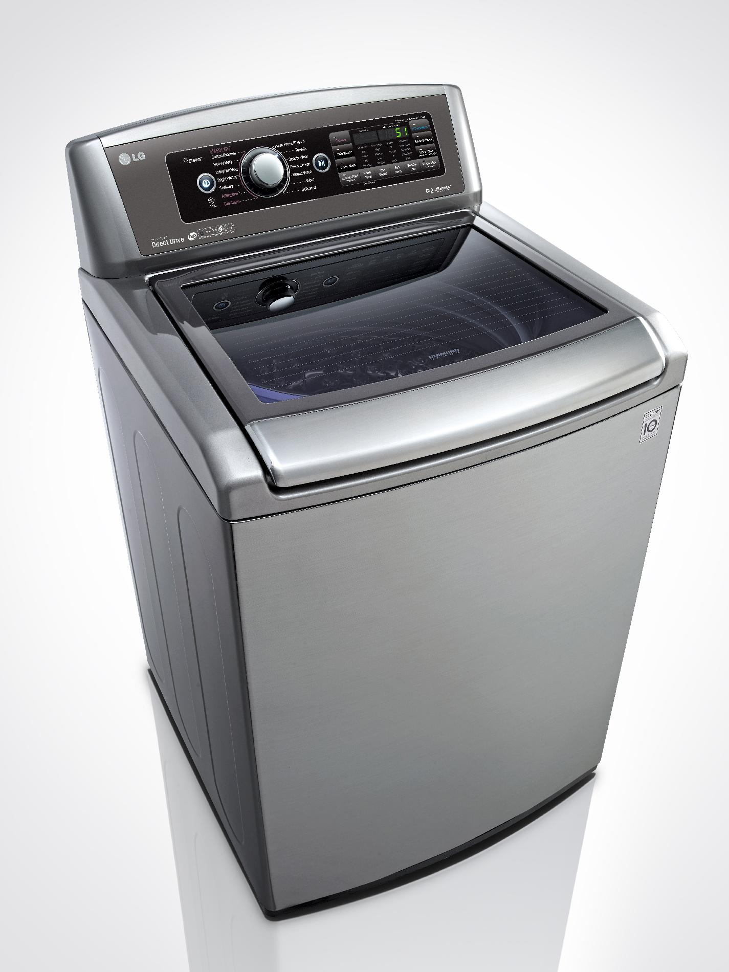 LG WT5680HVA 5.0 cu. ft. High Efficiency Top-Load Washer w/ TurboWash™ - Graphite Steel