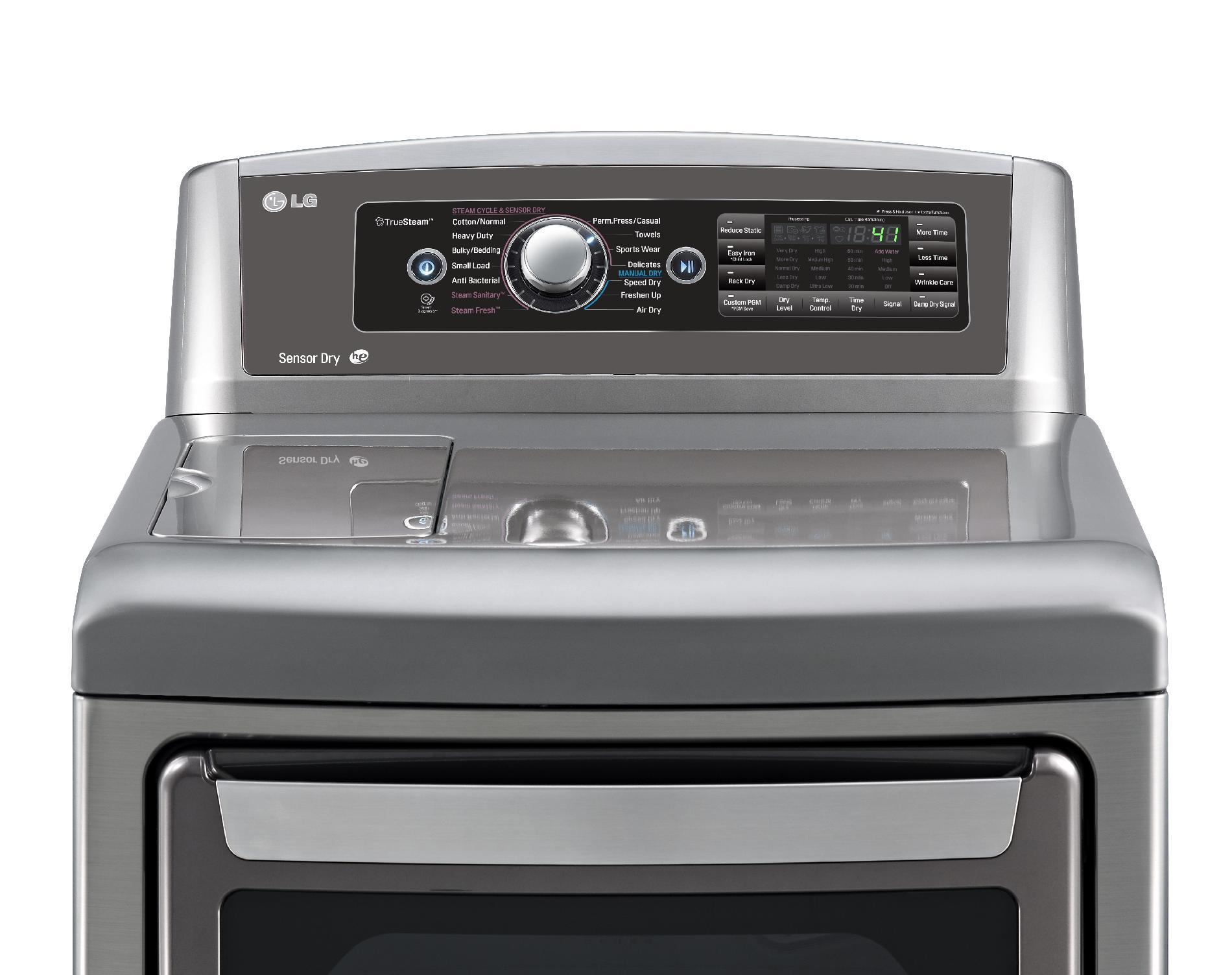 LG 7.3 cu. ft. Electric Dryer w/ SteamSanitary™ - Graphite Steel