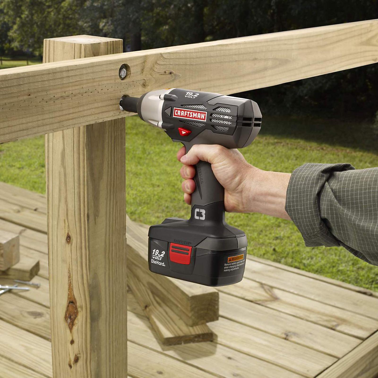 "Craftsman C3 19.2-Volt Cordless 1/2"" Wrench Kit"