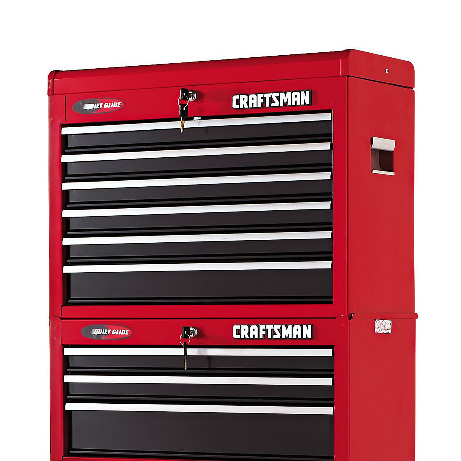 "Craftsman 26"" Wide 6-Drawer Quiet Glide® Top Chest - Red/Black"